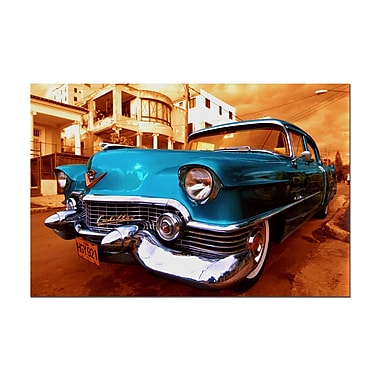 Trademark Fine Art 1955 Cadilac Coupe de Ville Sedan-Gallery Wrapped
