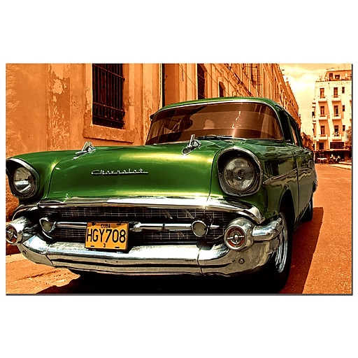 Trademark Fine Art 1957 Chevy Bel Air-Gallery Wrapped  16x24 Inches