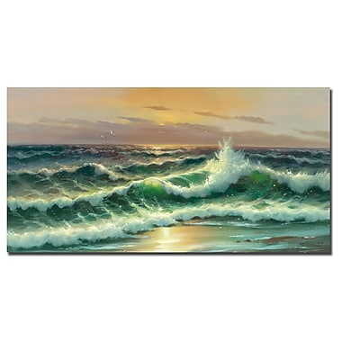 Trademark Fine Art Rio 'Waves I' Canvas Art 16x32 Inches
