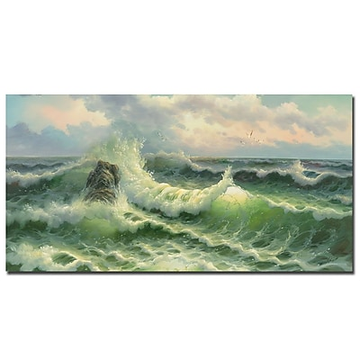 Trademark Fine Art Rio 'Waves II' Canvas Art 16x32 Inches