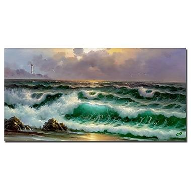 Trademark Fine Art Rio 'Waves III' Canvas Art 16x32 Inches