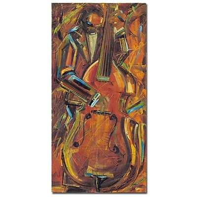 Trademark Fine Art Joarez 'Jazz I' Canvas Art 12x24 Inches