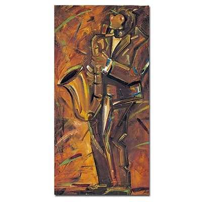 Trademark Fine Art Joarez 'Jazz II' Canvas Art 10x19 Inches