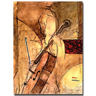 Trademark Fine Art Joarez 'Old Cello' Canvas Art 14x19 Inches