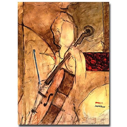 Trademark Fine Art Joarez 'Old Cello' Canvas Art 14x19 Inches