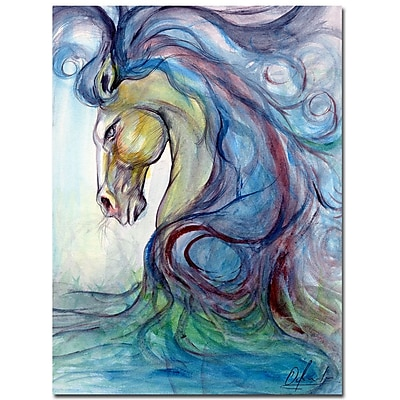 Trademark Fine Art Osay 'Caballo Azul' Canvas Art 18x24 Inches