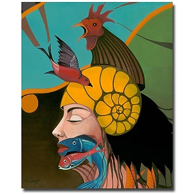 Trademark Fine Art Armando 'Looking at You' Canvas Art