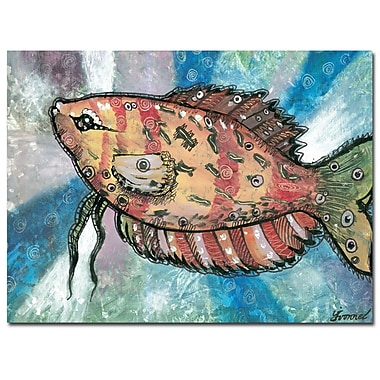 Trademark Fine Art Yonel 'Pascado Rojo' Canvas Art 24x32 Inches