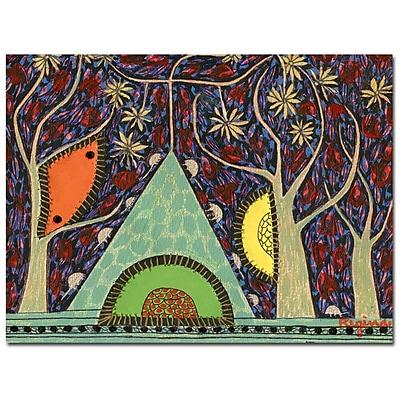 Trademark Fine Art Regina 'Sobre la Montana el Arbol' Canvas Art 35x47 Inches