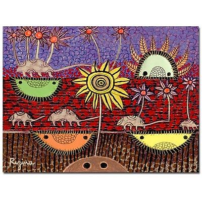 Trademark Fine Art Regina 'Paisaje Insular' Canvas Art 26x32 Inches