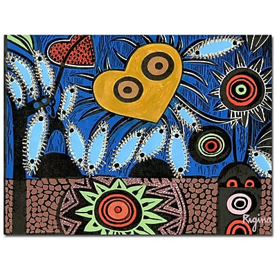Trademark Fine Art Regina 'Paisaje Insular III' Canvas Art 26x32 Inches