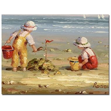 Trademark Fine Art Rosa 'At the Beach' Canvas Art 24x32 Inches