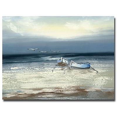 Trademark Fine Art Rio 'Low Tide' Canvas Art 24x32 Inches