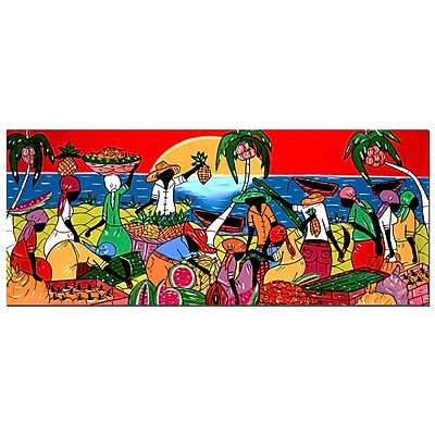 Trademark Fine Art 'Full of Life' Canvas Art 20x47 Inches