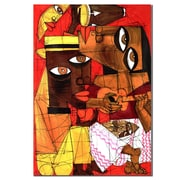 Trademark Fine Art 'Jammin in Red' Canvas Art 14x19 Inches