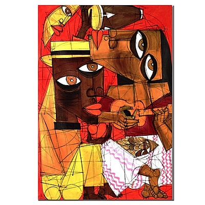 Trademark Fine Art 'Jammin in Red' Canvas Art 14x19 Inches