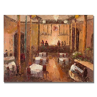 Trademark Fine Art 'Cafe Italia' Canvas Art 26x32 Inches