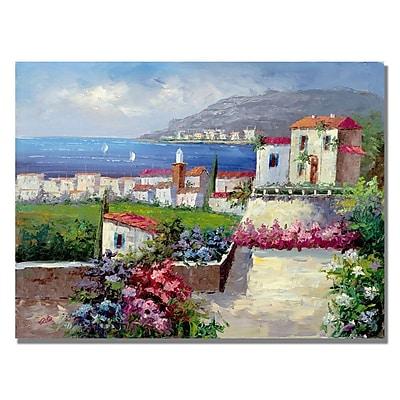 Trademark Fine Art 'Mediterranean View' Canvas Art