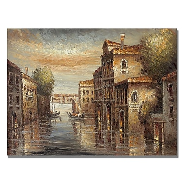 Trademark Fine Art Rio 'Auburn Venice' Canvas Art 35x47 Inches