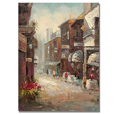 Trademark Fine Art Rio 'Paris au Matin' Canvas Art 18x24 Inches