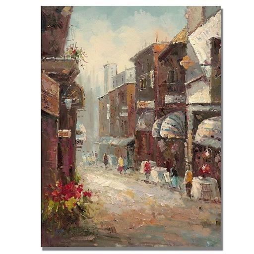 Trademark Fine Art Rio 'Paris au Matin' Canvas Art 26x32 Inches