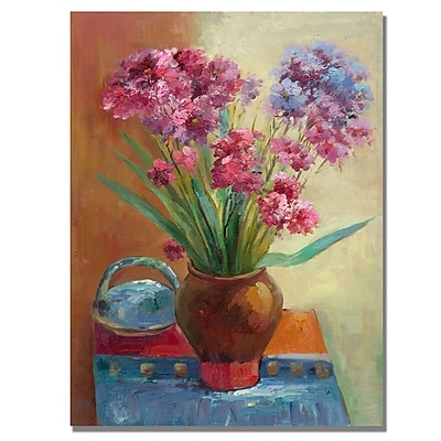 Trademark Fine Art Rio 'Spring Flowers' Canvas Art 35x47 Inches