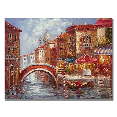 Trademark Fine Art Rio 'Veneian Waterways' Canvas Art 35x47 Inches