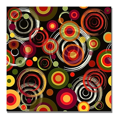 Trademark Fine Art 'Raindrops on Black' Canvas Art 18x18 Inches