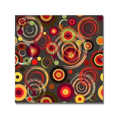 Trademark Fine Art 'Raindrops on Gray' Canvas Art 18x18 Inches