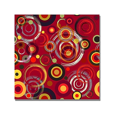 Trademark Fine Art 'Raindrops on Red' Canvas At 18x18 Inches
