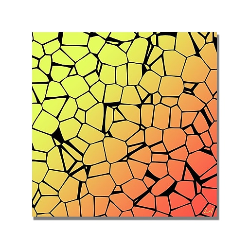 Trademark Fine Art 'Crystals of Yellow and Orange' Canvas Art 35x35 Inches