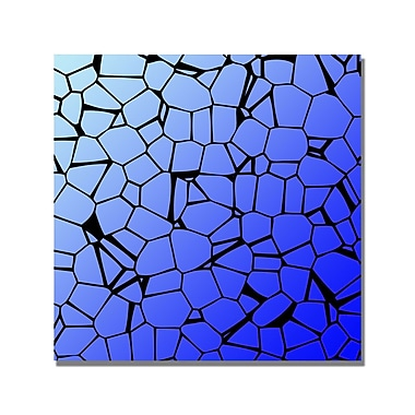 Trademark Fine Art 'Crystals Blues' Canvas Art 24x24 Inches