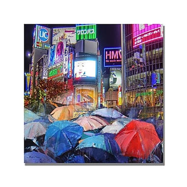 Trademark Fine Art 'Rainy Night in Tokyo' Canvas Art 35x35 Inches