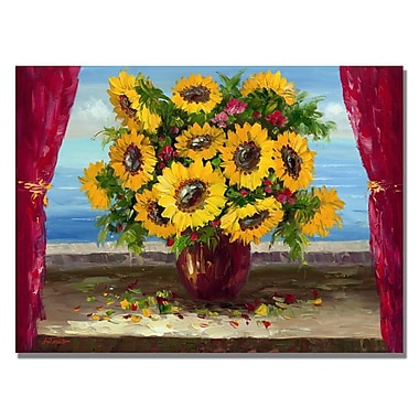 Trademark Fine Art 'Field of Wild Floweres' Canvas Art