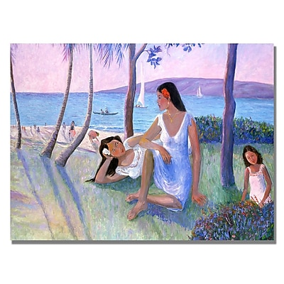 Trademark Fine Art Manor Shadian 'Kihe Shore' Canvas Art 22x32 Inches