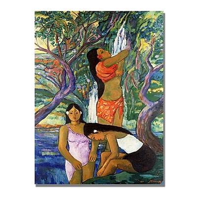 Trademark Fine Art Manor Shadian 'Hana Waterfall' Canvas Art 18x24 Inches