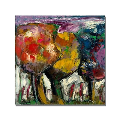 Trademark Fine Art Abstract I by Lopez Canvas Art Ready to Hang