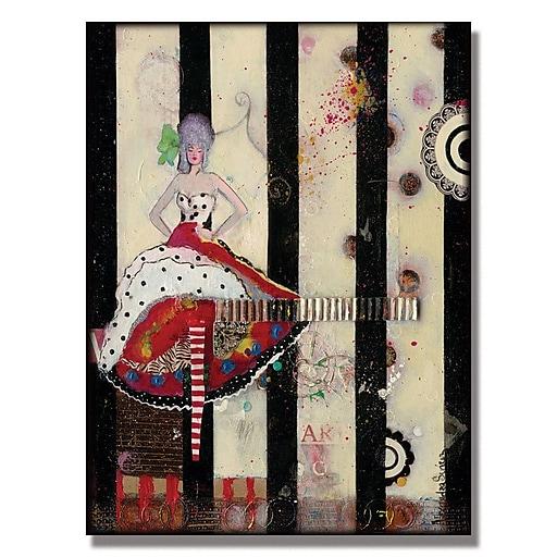 Trademark Fine Art Alexandra Rey 'Meet Flowers' Canvas Art 35x47 Inches