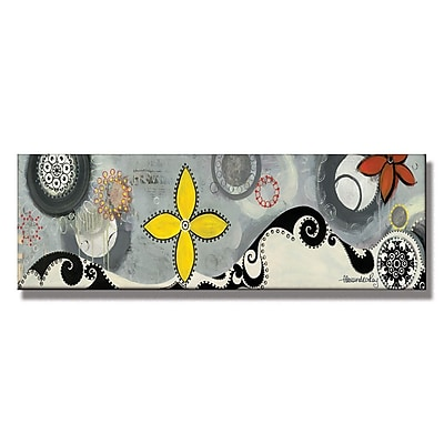 Trademark Fine Art Alexandra Rey 'Symphony' Canvas Art 14x47 Inches
