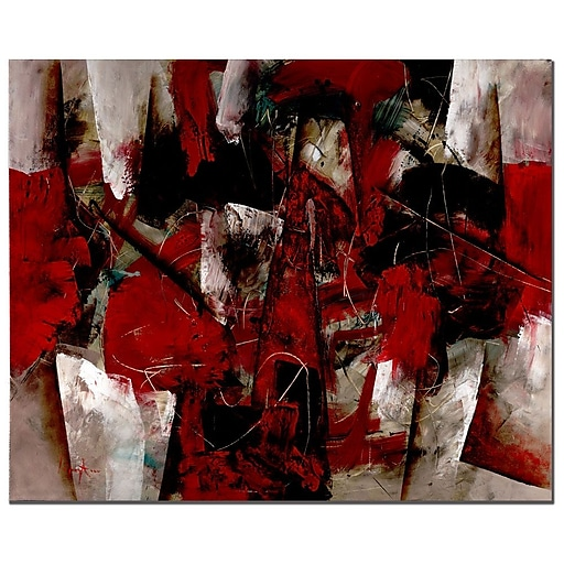 Trademark Fine Art Abstract V by Lopez Canvas Art Ready to Hang