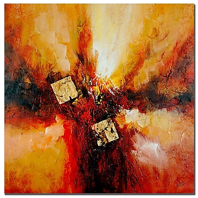 Trademark Fine Art Rio 'Cube Abstract I' Canvas Art 24x24 Inches