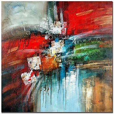 Trademark Fine Art Rio 'Cube Abstract IV' Canvas Art 24x24 Inches