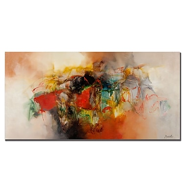 Trademark Fine Art Zavaleta 'Abstract VI' Canvas Art 16x32 Inches
