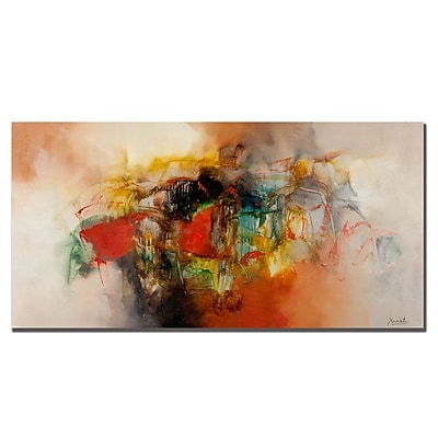 Trademark Fine Art Zavaleta 'Abstract VI' Canvas Art 16x32 Inches