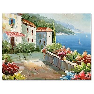Trademark Fine Art Rio 'Mideterreanean View' Canvas Art 35x47 Inches