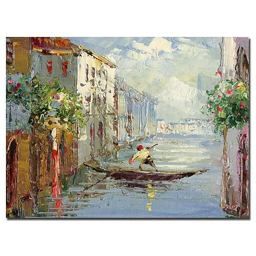 Trademark Fine Art Rio 'Gondola' Canvas Art 26x32 Inches