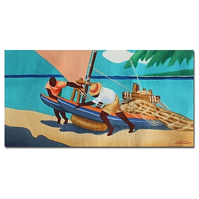 Trademark Fine Art Antonio 'Summer Times' Canvas Art 16x32 Inches