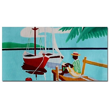 Trademark Fine Art Antonio 'Sunday' Canvas Art 16x32 Inches