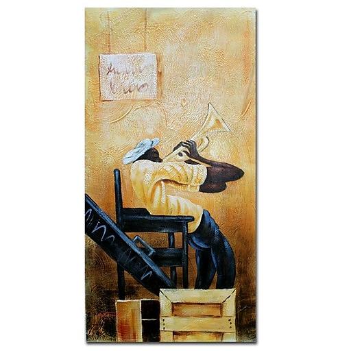 Trademark Fine Art Antonio 'Urban Jazz' Canvas Art 12x24 Inches