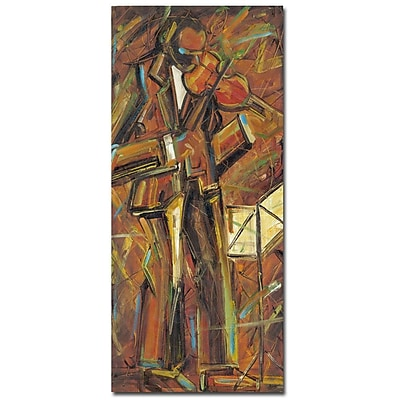 Trademark Fine Art Daniel Gonzales 'Concien Para Ti' Canvas Art 12x24 Inches